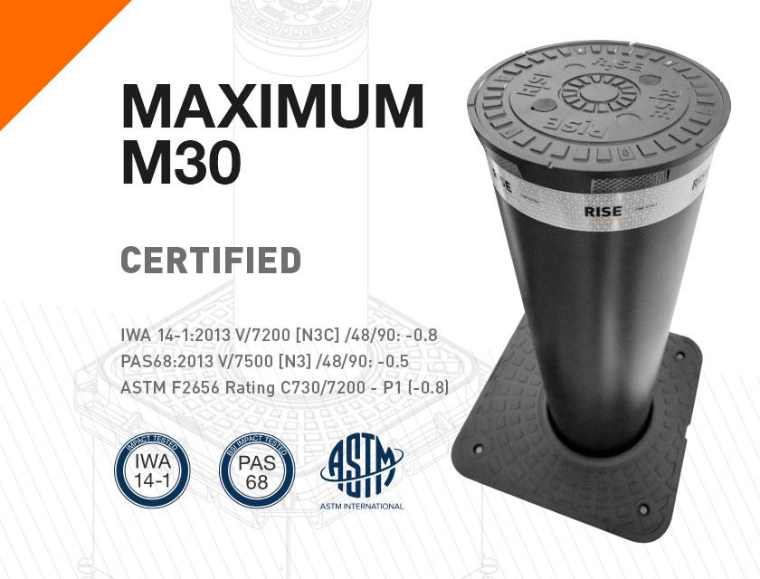 MAXIMUM è il nuovo dissuasore con certificazione K4, M30, C730