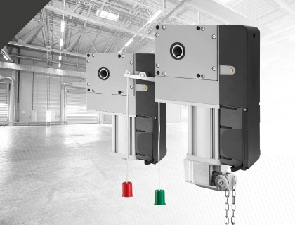 new vn models for sectional and rolling industrial doors are equipped with a  new plastic box that makes wiring the motor easier, thanks to the position  of